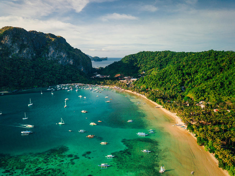 Aerial View Of El Nido Palawan Island Philippines By Nikada
