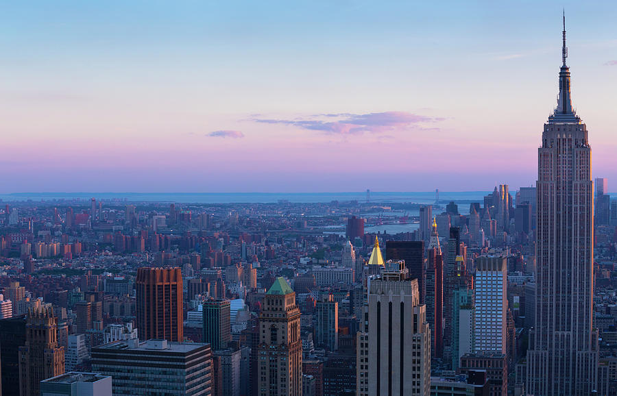 Aerial View Of Empire State And Midtown Photograph by Future Light