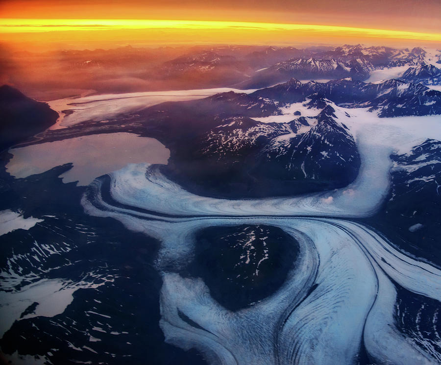 Aerial View Of Glacier Photograph by Piriya Photography