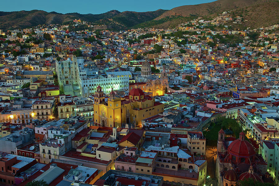 Aerial View Of Guanajuato City Photograph by Sam Antonio Photography