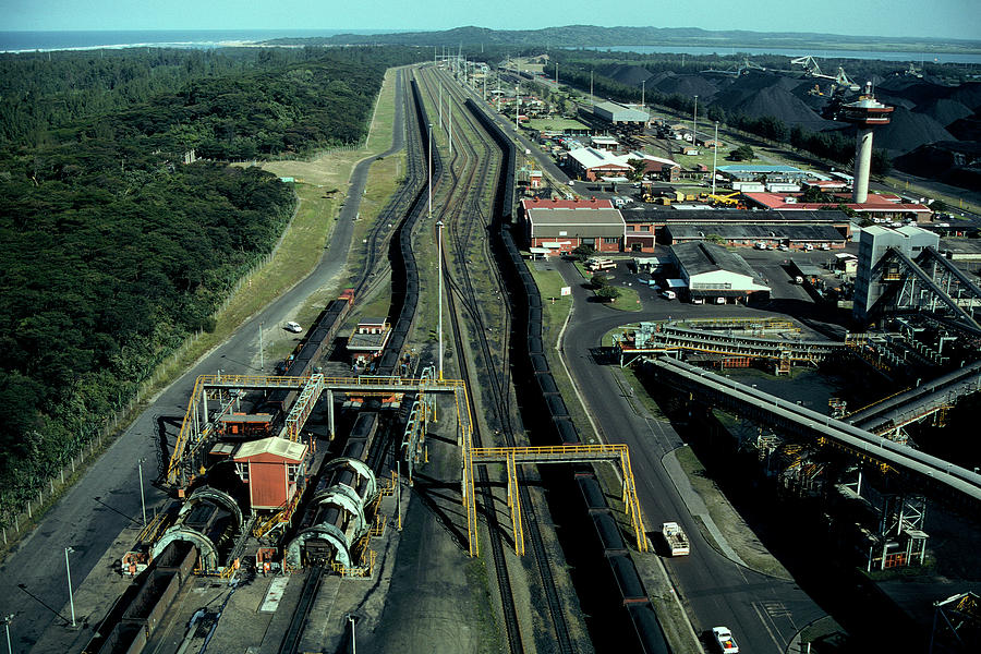 Aerial View Of Large Coal Export Photograph by Beyondimages