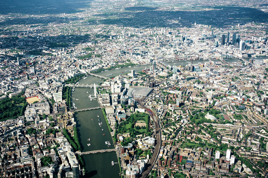 Aerial View Of London, River Thames Photograph by Urbancow