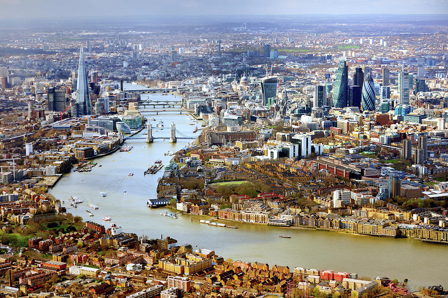 Aerial View Of  London Photograph by Vladimir Zakharov