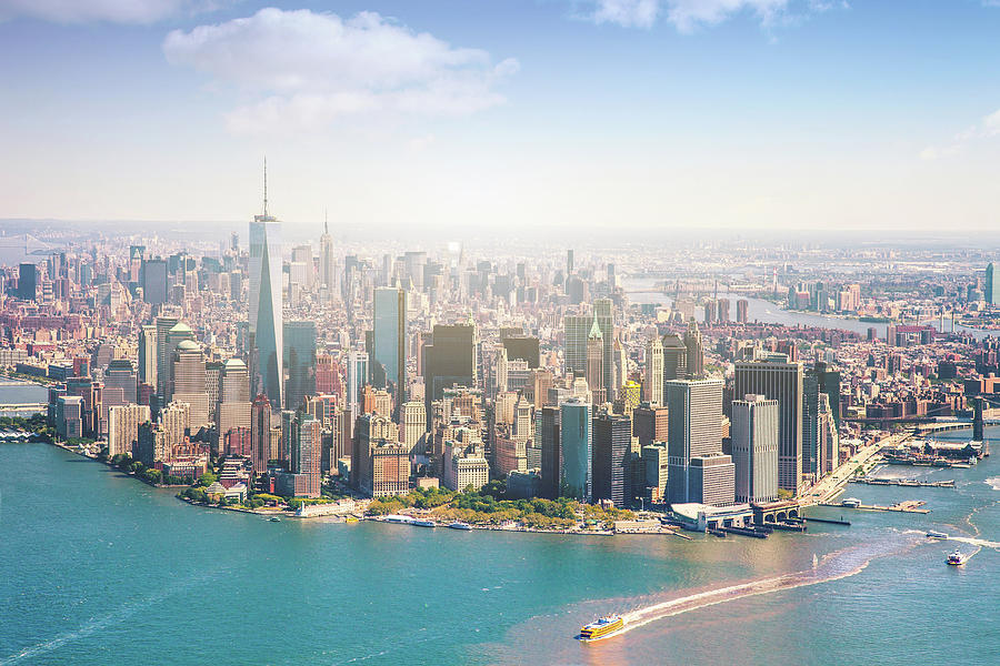 Aerial View Of Manhattan - New York Photograph by Leopatrizi