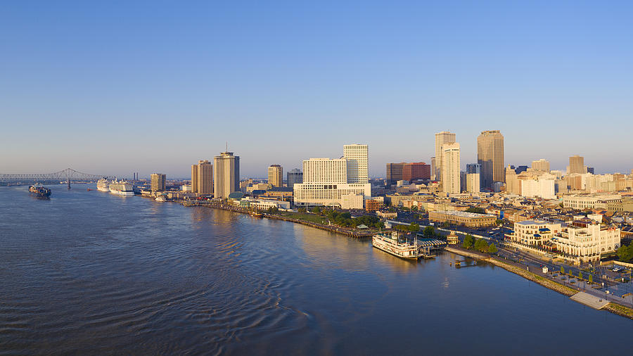Aerial View Of Mississippi River And New Orleans - Louisiana Photograph by Pawel.gaul