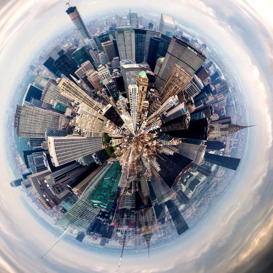 Aerial View Of Modern City Photograph by John Mcintosh / Eyeem