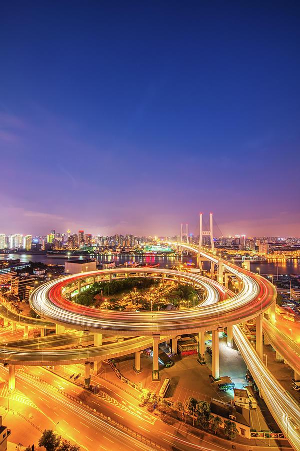 Aerial View Of Nanpu Bridge Photograph by Fei Yang