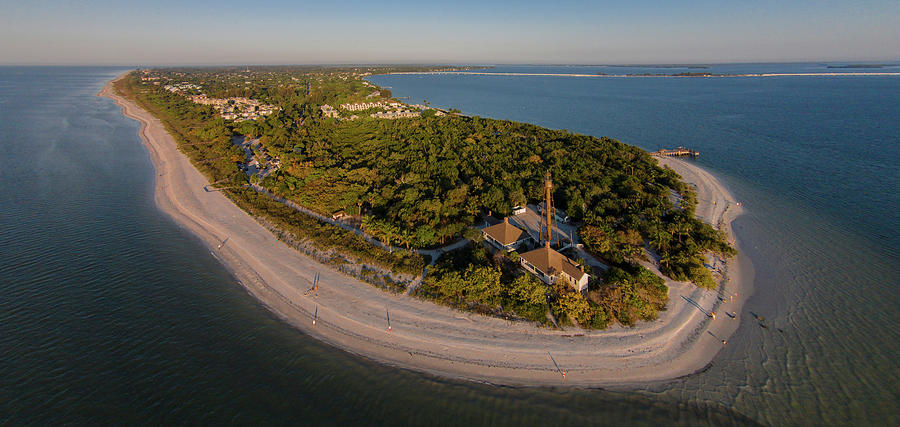 Horizontal Photograph - Aerial View Of Sanibel Island by Panoramic Images