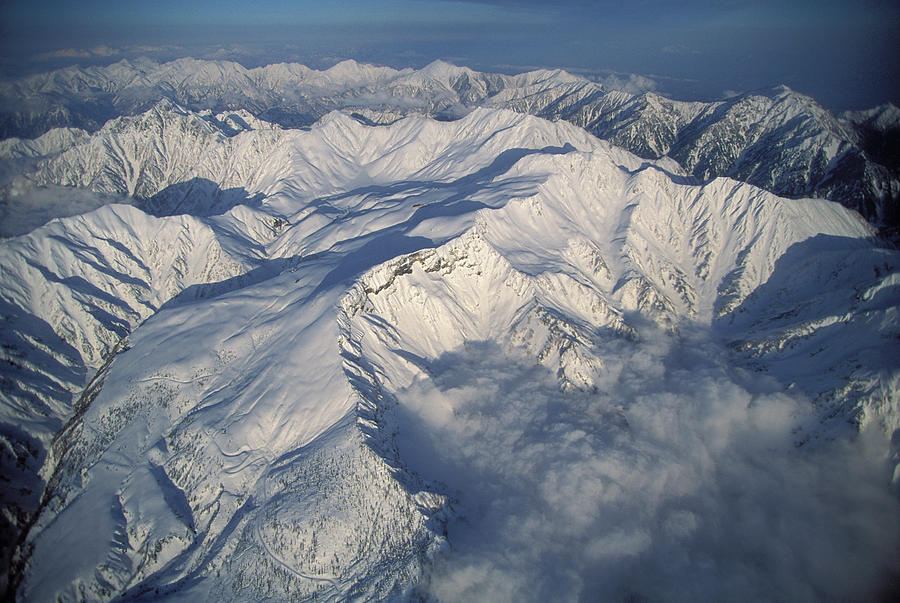 Aerial View Photograph - Aerial View Of The Japan Alps by Peter Essick