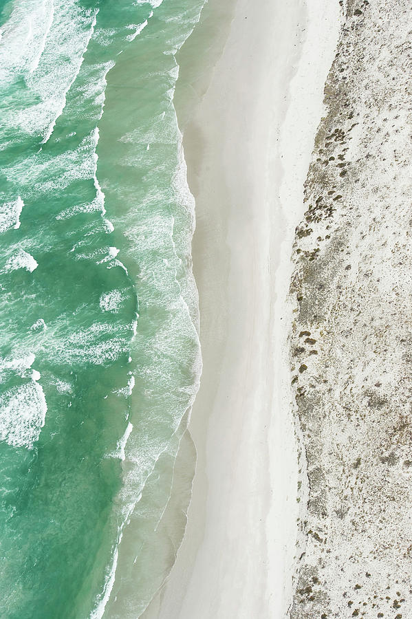 Aerial View Of The Sixteen Mile Beach Photograph by Peter Chadwick