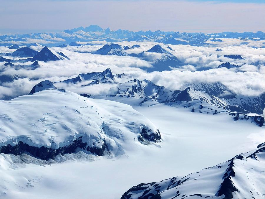 Aerial View Of The Southern Alps Of New Photograph by Thierrylevenq
