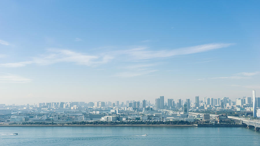 Aerial View Of Tokyo Bay Area On A Sunny Winter Day Photograph by Ippei Naoi