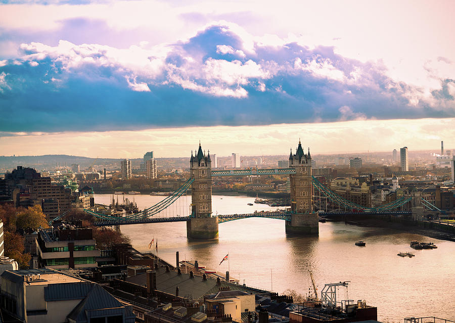 Aerial View Of Tower Bridge In London Photograph by Lightkey