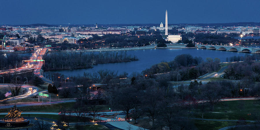 Aerial View Of Washington D C From Top Photograph By Panoramic