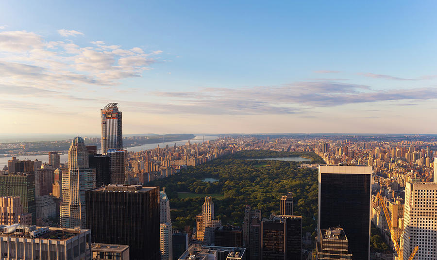 Aerial View Over Central Park And Photograph by Future Light