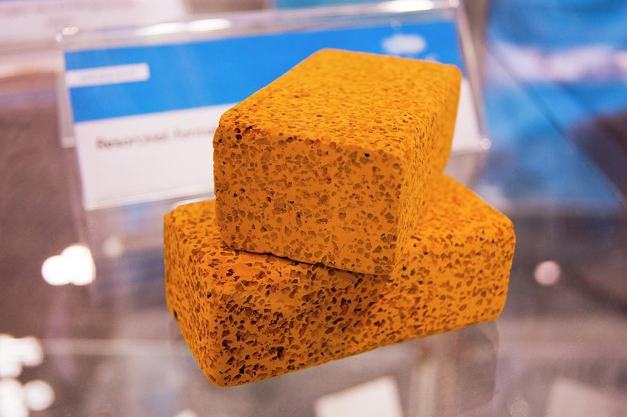 Block Photograph - Aerogel Blocks by Mark Williamson/science Photo Library