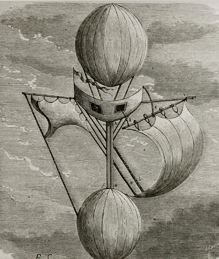 Balloon Photograph - Aeronautical Vessel by Science Photo Library