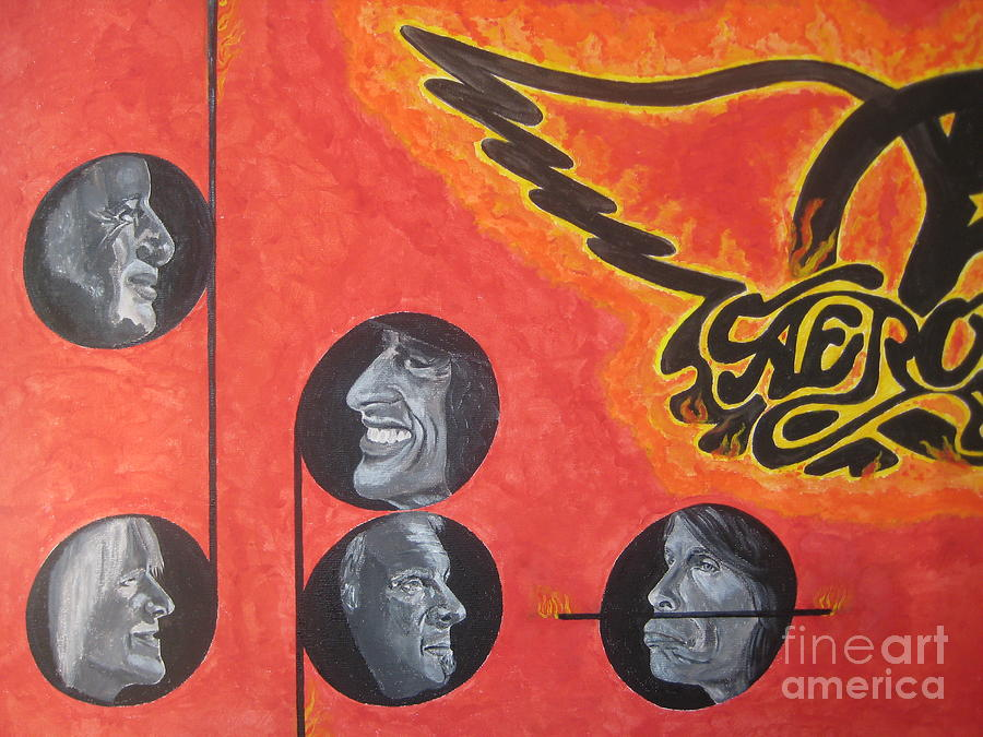 Aerosmith Art Painting  Painting - Aerosmith Art Painting 40th Anniversary by Jeepee Aero