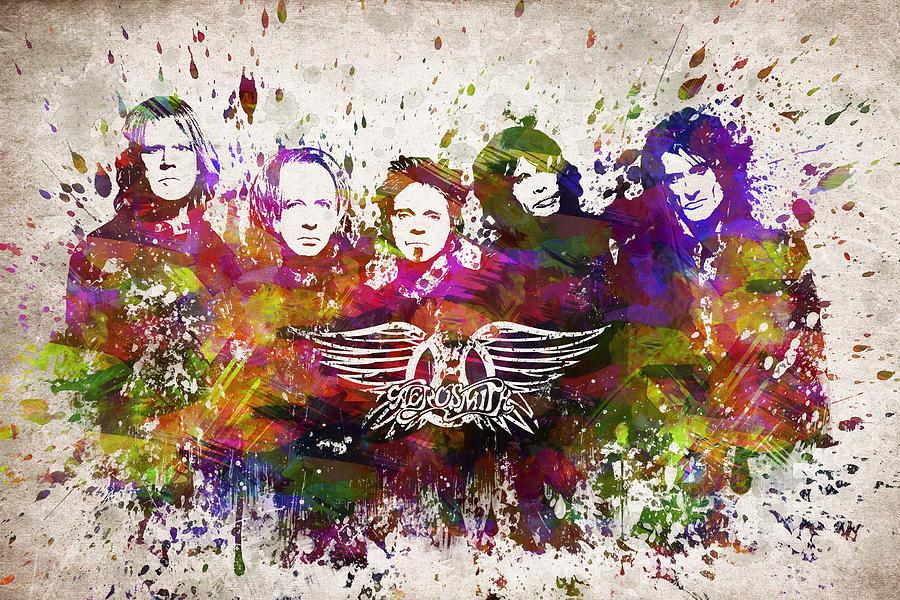 Aerosmith In Color Digital Art
