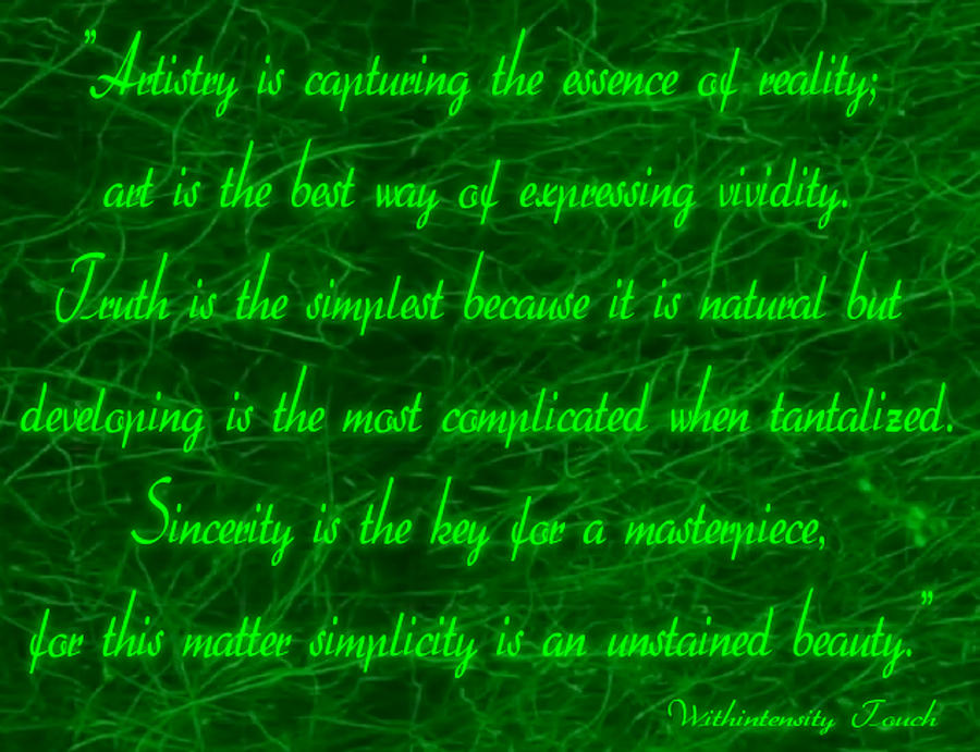 Aesthetic Quote 1 Digital Art by Withintensity  Touch