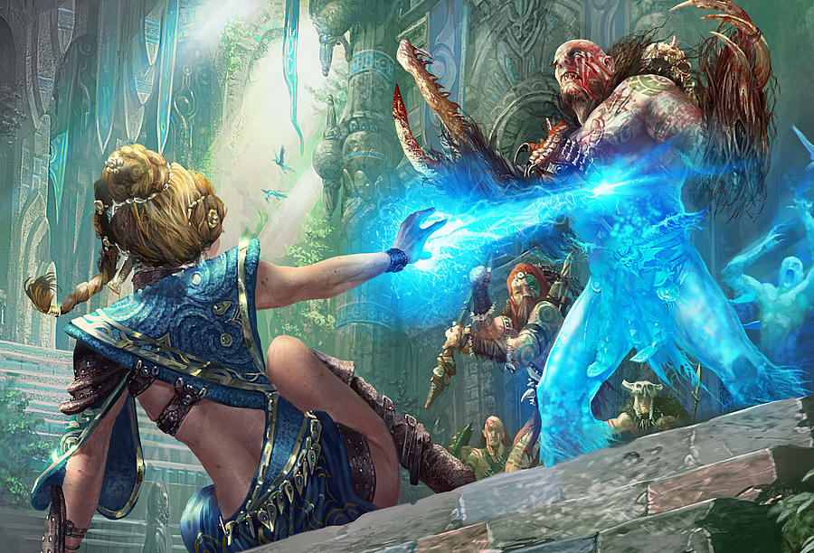 Magic The Gathering Digital Art - Aetherize by Ryan Barger