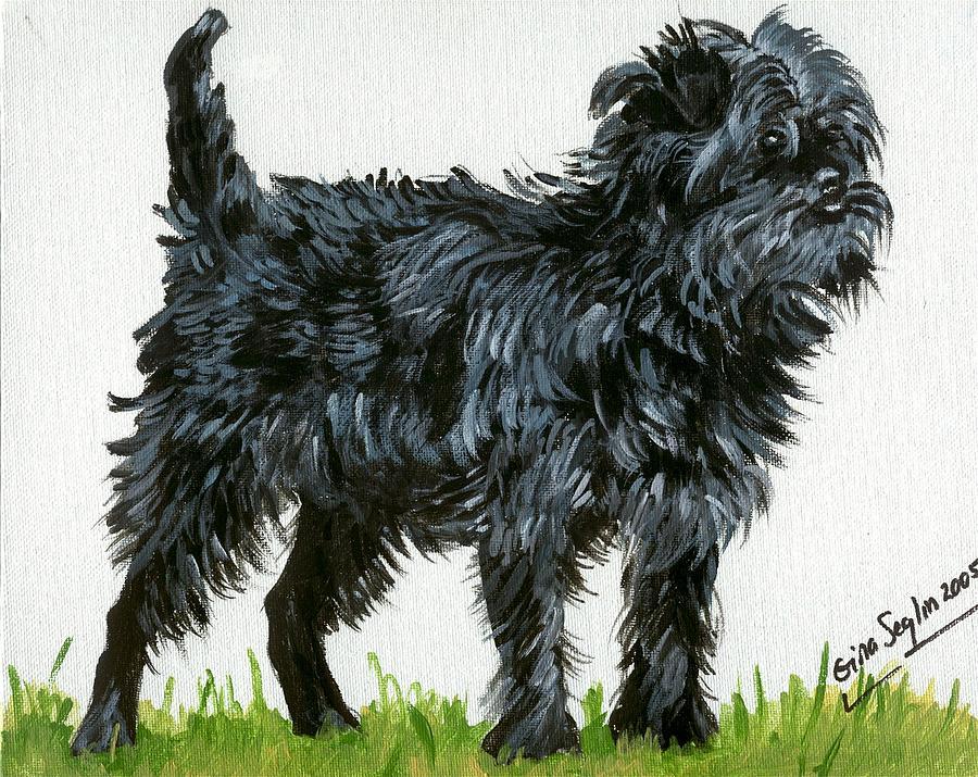 Affenpinscher Dog Painting - Affenpinscher Dog by Olde Time  Mercantile