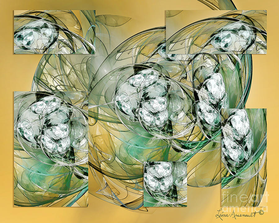Abstract Digital Art - Affirmations by Leona Arsenault
