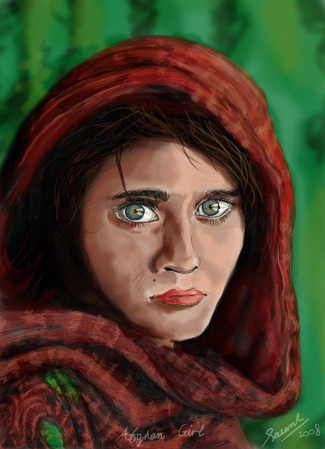 Afghan Girl Mixed Media - Afghan Girl by Sasank Gopinathan
