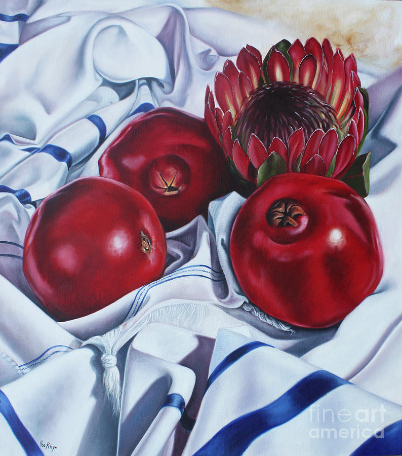 Protea Painting - Africa Praying For Isreal by Ilse Kleyn