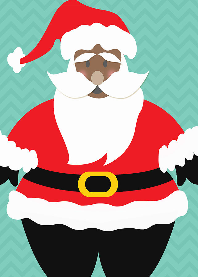 African American Santa Claus Digital Art