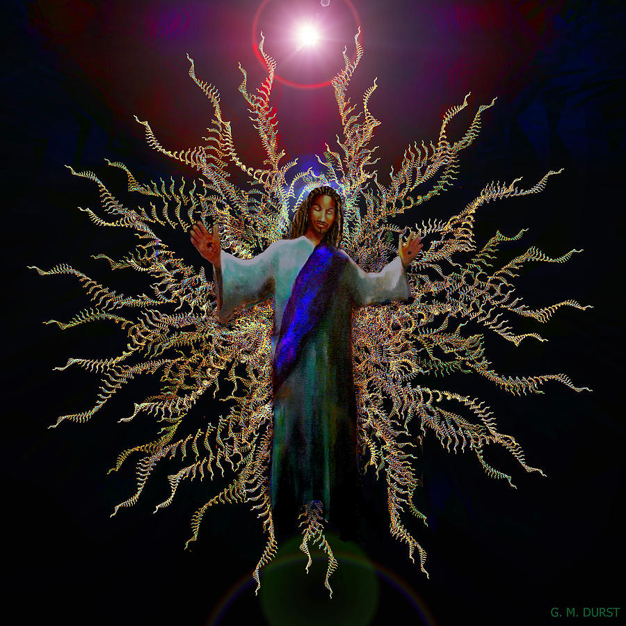 Easter Digital Art - African Ascension by Michael Durst