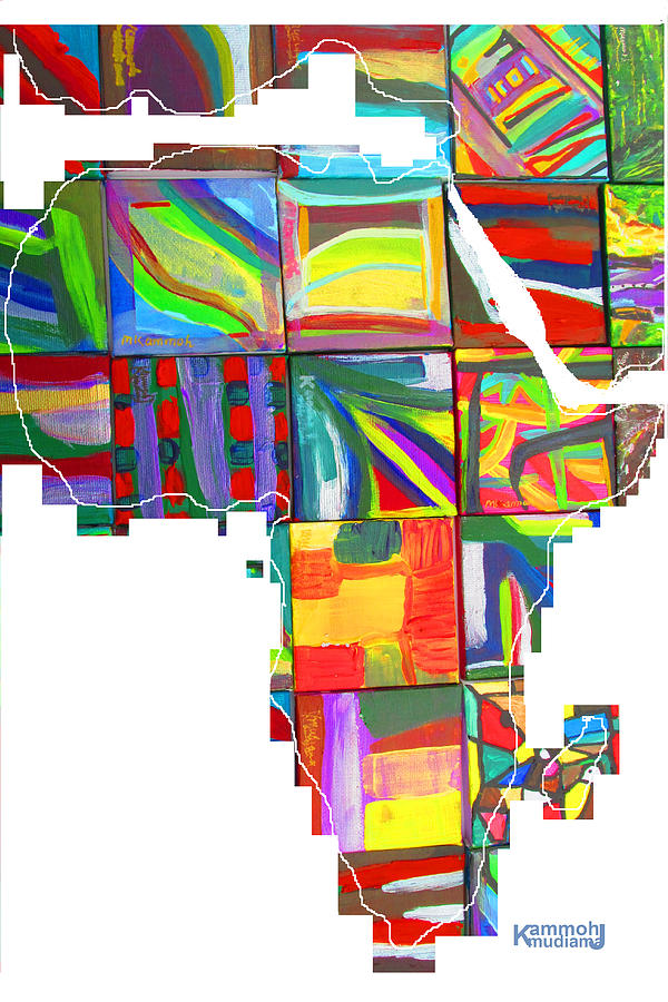 Africa Painting - African Brightness by Mudiama Kammoh