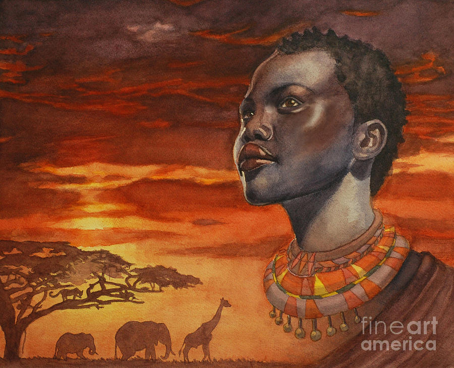 African Painting - African Dream by Isabella Kung
