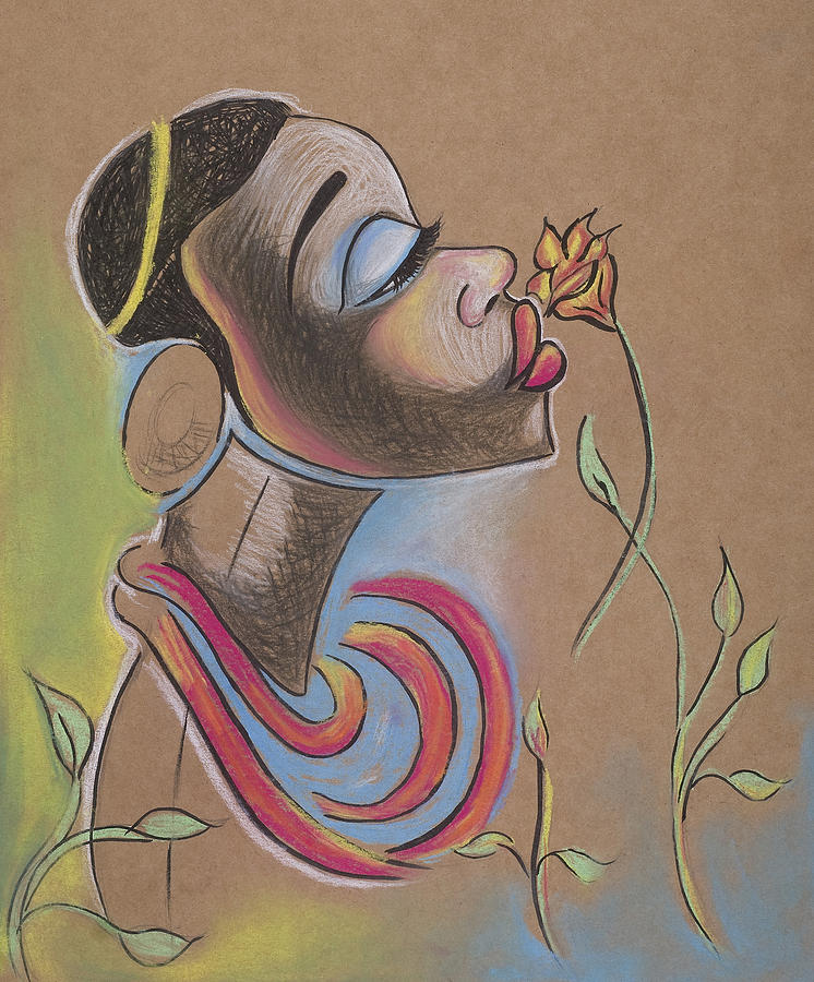 African Drawing - African Girl by Chibuzor Ejims