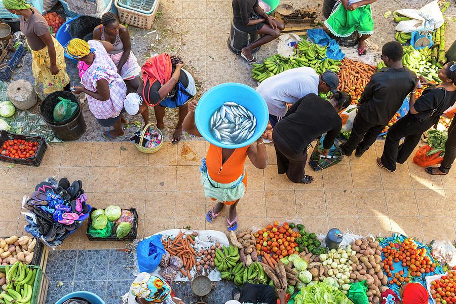 African Market, Assomada, Santiago Photograph by Peter Adams