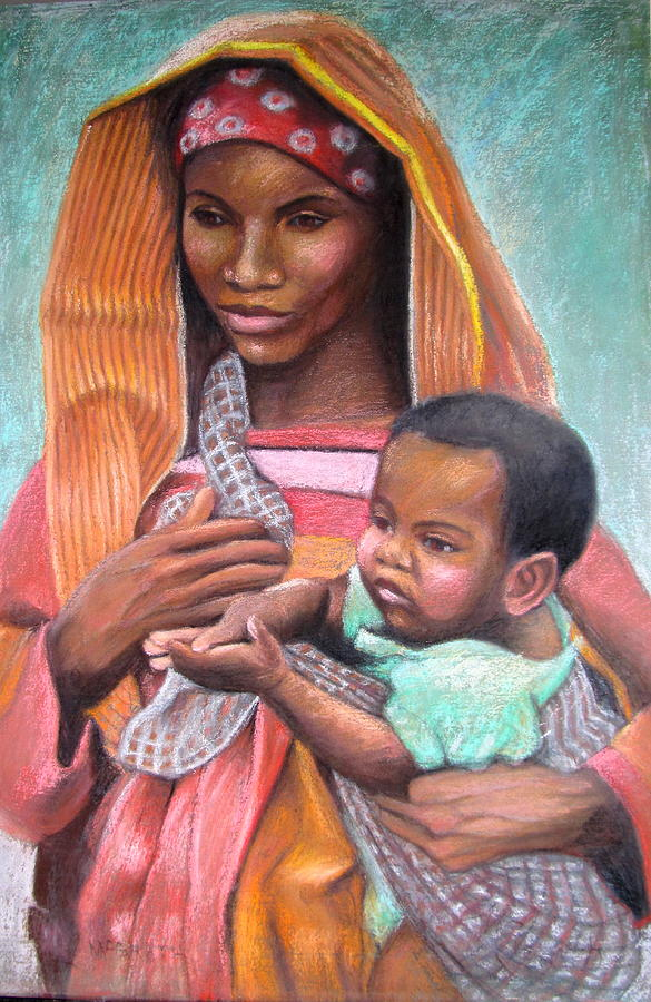 African Mother Painting by Janet McGrath