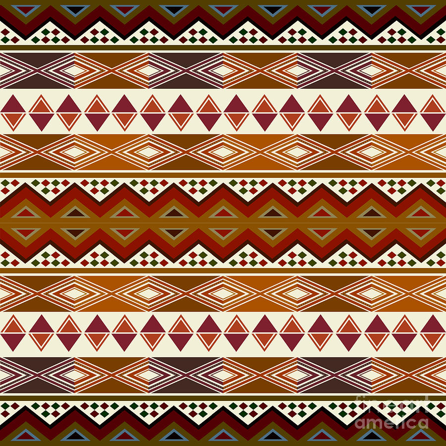 African Pattern Digital Art By Richard Laschon