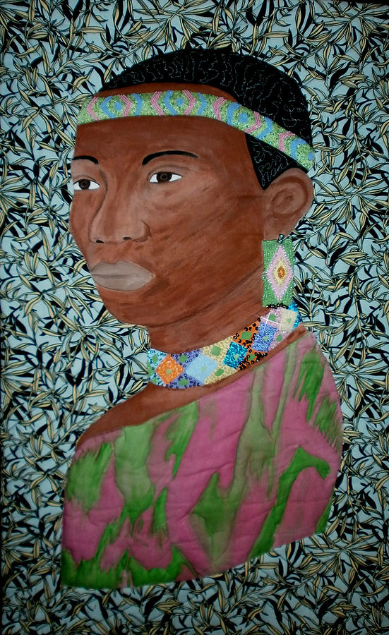 Quilts Painting - African Queen by Linda Egland