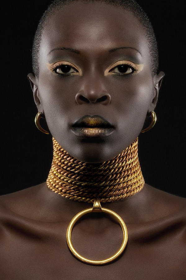 Gold Photograph - African Queen by Maurice De Vries