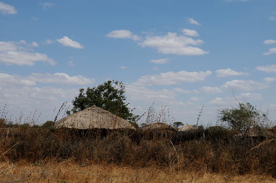 Africa Photograph - African Series Masai Hut by Katherine Green