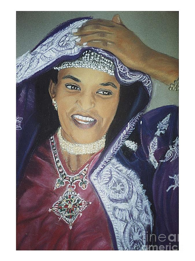 African Women Pastel - African Women-Ethiopian Adari Girl by JackieO Kelley