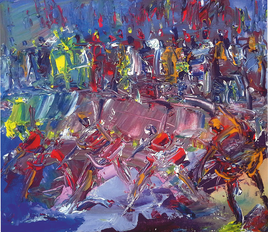 Afro-dance Painting by Bob Usoroh