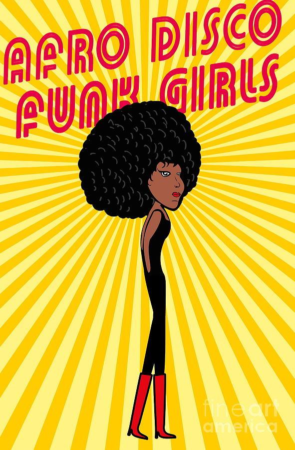 Fancy Digital Art - Afro Disco Girls by A1vector