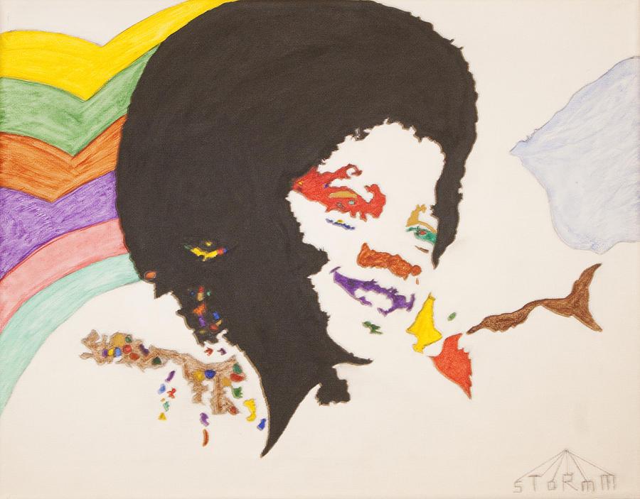 Michael Jackson Painting - Afro Michael Jackson by Stormm Bradshaw