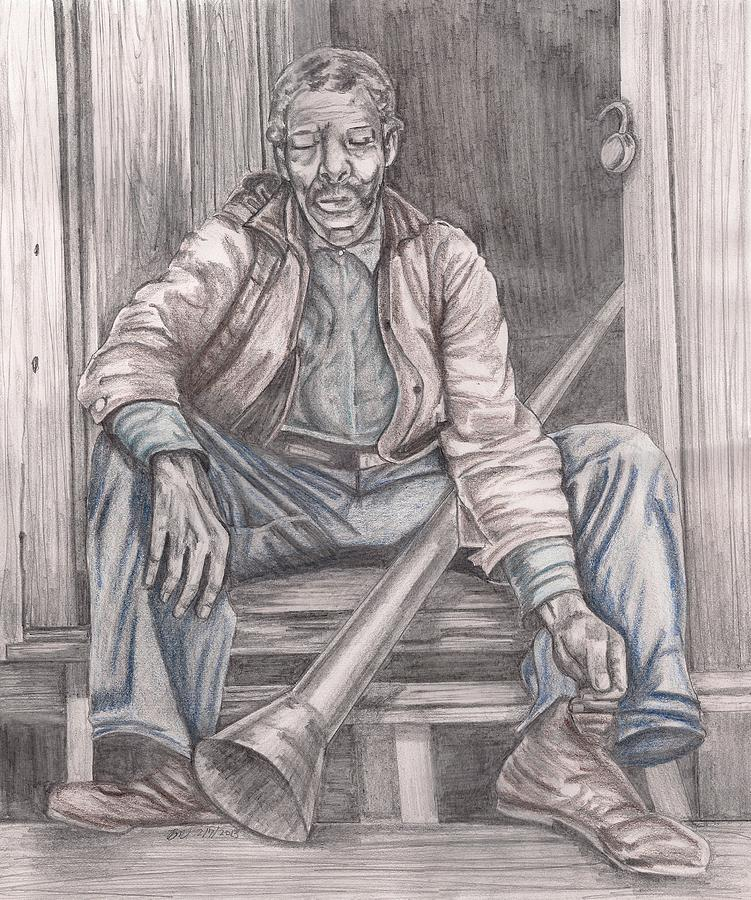 Former Slave Mixed Media - After A Hard Days Work by Beverly Marshall
