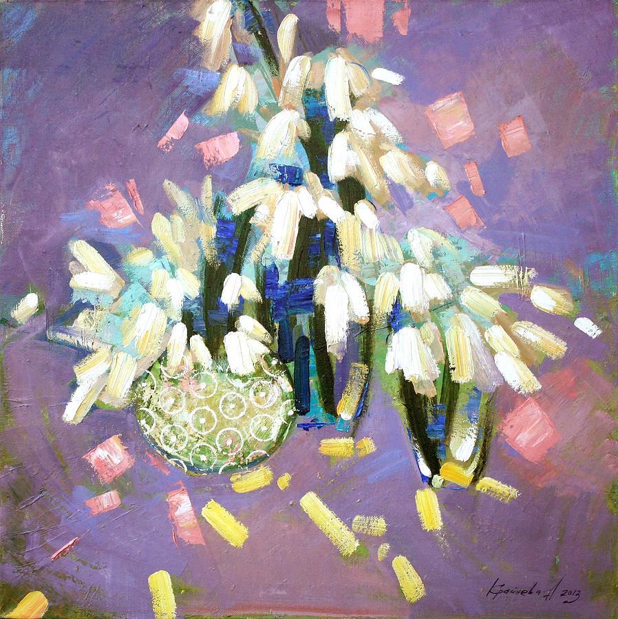 Snowdrops Painting - After A Long Sleep by Anastasija Kraineva