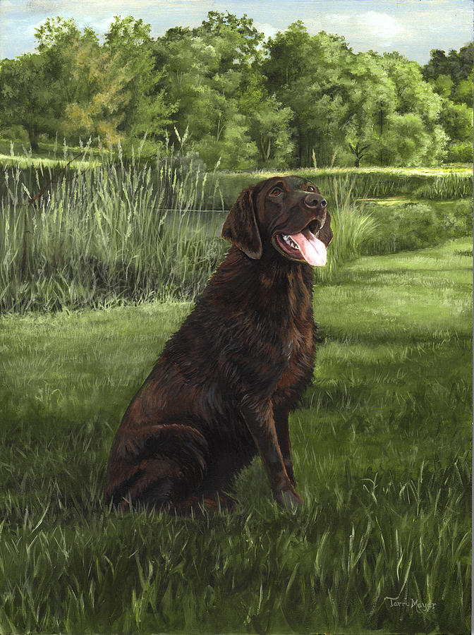 After A Swim Painting by Terri  Meyer