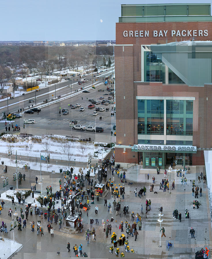 Green Bay Packers Photograph - After A Winter Packers Game by Stephen Farley