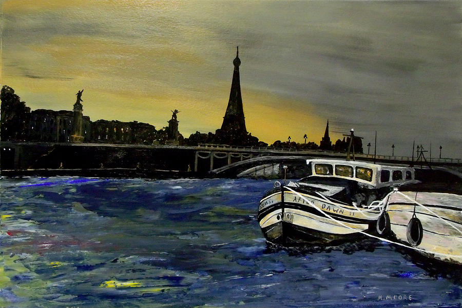 Paris Painting - After Dawn II by Mark Moore