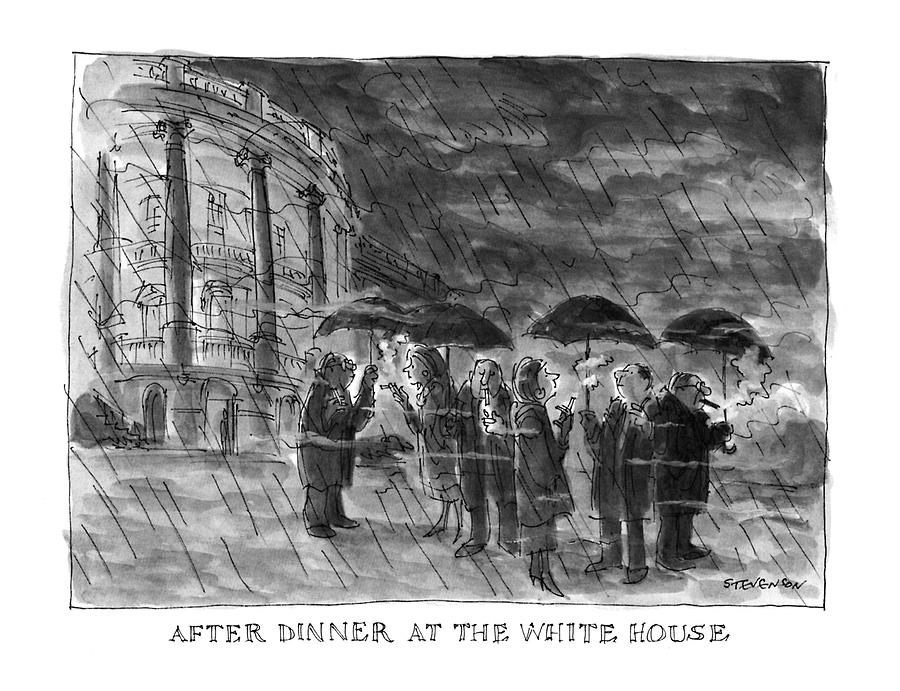 After Dinner At The White House Drawing by James Stevenson